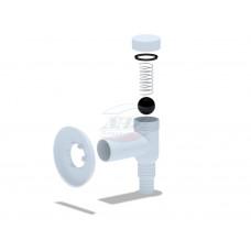 Сифон МИНИ d=32 настенный с розеткой, для стиральной машины АНИ М500