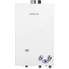 Колонка газовая SUPERFLAME SF0420T полутурбо белая 10л/мин, дисп, эл/мод с дымоходом