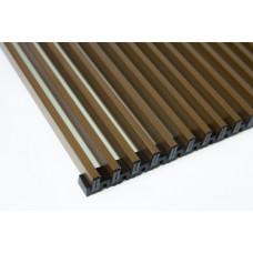 Решетка для конвектора алюминиевая рулонная GEKON L390 T23 (L389 W22.0) цв темно/корич RDB