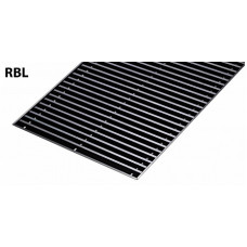 Решетка для конвектора алюминиевая рулонная GEKON L190 T23 (L189 W22.0) цв черный RBL