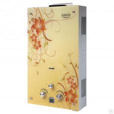 Колонка газовая OASIS Glass 20BG цветы 20кВт 10л мин дt 25°C