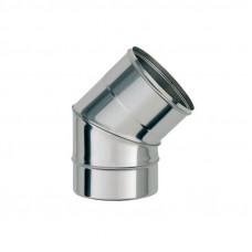 Колено из нерж/стали d=135/45° 2х секц (толщ. 0,5мм) AISI 430