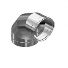Колено из нерж/стали d=135/90* 3х секц (толщ. 0,5мм) AISI 430