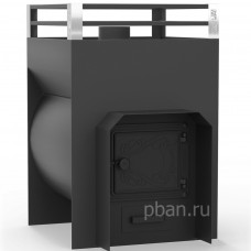 Печь-каменка для бани ЖАРА-СТАНДАРТ 500У дверца чугун 10-26м³, 8мм (100кг)