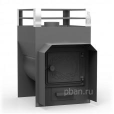 Печь-каменка для бани ЖАРА-ЭКСТРА 400 дверца чугун 4-12 м³, 6мм (60кг)