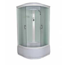 Гидробокс LORANTA CS-900 HI SK 90х90х215 гл/поддон п/к сер пер/стекло, проф хром, черное зад/стекло