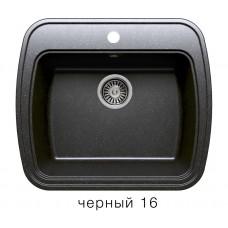 Мойка из искусств камня POLYGRAN F11 16 черная 570х500мм с сифоном