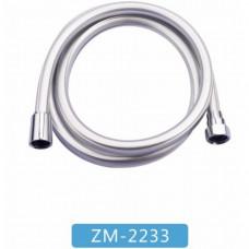 """Шланг Wasser Zimmer ZM-2233 для лейки 150см d1/2""""х1/2"""" силикон серый квадрат с защитой от перекручивания"""