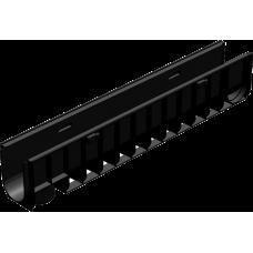 Лоток водоотводный Gidrolica Standart ЛВ10.14.5.06 Д100 ДЛ1,0м хШ145хВ60 пластик без решетки 805/клС250