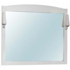 Зеркало КЛАССИК Британика 100 с подсветкой ш105 х в96 белое