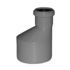 Переходник канализационный d=40x32/180* эксцентрик длинный белый Ostendorf