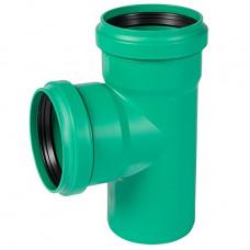 Тройник наружный канализационный d=110х110х90° (зеленый) Ostendorf KG2000EA