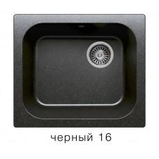 Мойка из искусств камня POLYGRAN F17 16 черная 430х500мм с сифоном