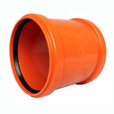 Муфта канализационная гофра d=160 ПВХ