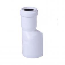 Переходник канализационный d=50x40/180* эксцентрик длинный белый Ostendorf