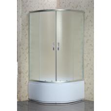 Кабина душ. LORANTA CS-8010S 80х80х195 гл/поддон п/к сатин/fabric стекло