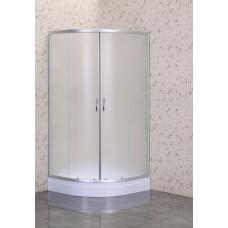 Кабина душ. LORANTA CS-8025S 100х100х195 мелк/поддон п/к сатин/fabric стекло
