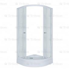 Кабина душевая ТРИТОН РИФ А 90х90 мелкий полукруглый поддон с сифоном (стекло *грейс* )