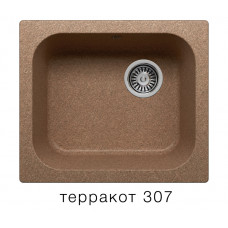 Мойка из искусств камня POLYGRAN F17 307 терракотовая 430х500мм с сифоном