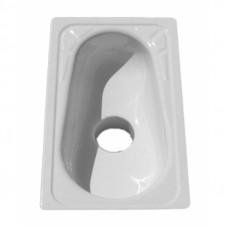 Чаша Генуя сталь эмалированная, центральное отверстие с сифоном, c рассекателем
