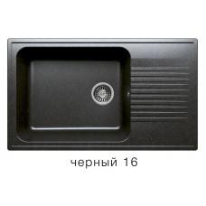 Мойка из искусств камня POLYGRAN F19 16 черная 850х500мм с крылом с сифоном