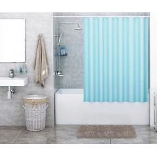 Штора для ванны Wasserkraft Order 180х200 c кольцами *голубая* SC-30201
