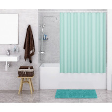 Штора для ванны Wasserkraft Order 180х200 c кольцами *светло-зеленая* SC-30301