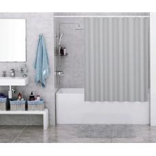 Штора для ванны Wasserkraft Order 180х200 c кольцами *серая* SC-30501