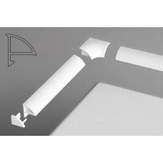 Набор для планки декоративной RAVAK 6мм (2 заглушки и 2 угл соединителя) арт B440000001