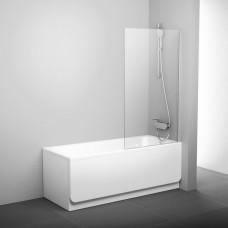 Шторка для ванны RAVAK PVS1 стекло Transparent, профиль белый