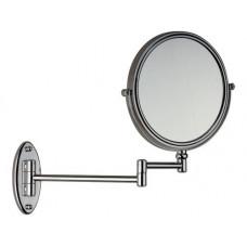Двухстороннее зеркало с настенным держателем, хром, 21 см Remer RB635