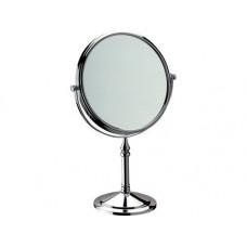 Зеркало косметическое настольное 21см хром Remer RB645