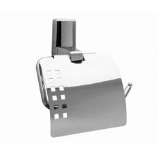 Держатель для туалетной бумаги с крышкой Wasserkraft Leine хром К-5025