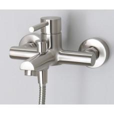 Смеситель Wasserkraft Wern 4201 для ванны  с коротким изливом матовый хром
