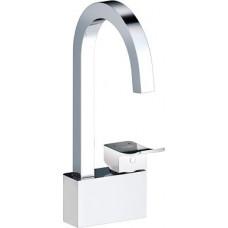 Смеситель Wasserkraft Aller 1067 White для кухни  комбинированное покрытие