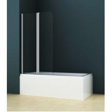Шторка для ванны AZARIO AZ-141 80х140 хром прозрачное стекло