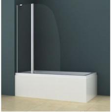 Шторка для ванны AZARIO AZ 142 70+30х140 хром стекло прозрачный