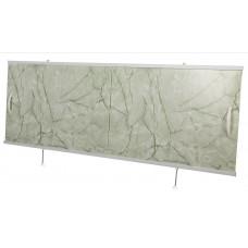 Экран под ванну ВладЭк Steel 1,50 (рама сталь, дверки ПС) *салатовый мрамор* №71