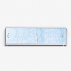 Экран под ванну ВладЭк Стандарт 1,50 (рама сталь, дверки ПП) *св голубой мрамор* арт29