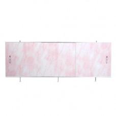 Экран под ванну ВладЭк Стандарт 1,50 (рама сталь, дверки ПП) *св розовый мрамор* арт3
