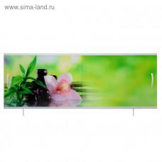 Экран под ванну ВладЭк Стандарт Плюс 1,50 (рама сталь, дверки ПП) УФ печать *белая орхидея* арт5