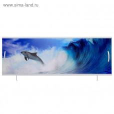 Экран под ванну ВладЭк Стандарт Плюс 1,50 (рама сталь, дверки ПП) УФ печать *дельфин* арт2