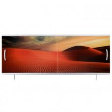 Экран под ванну ВладЭк Стандарт Плюс 1,50 (рама сталь, дверки ПП) УФ печать *пустыня* арт10