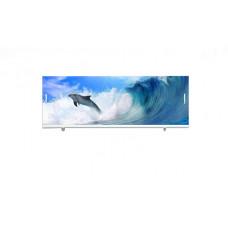Экран под ванну ВладЭк Стандарт Плюс 1,70 (рама сталь, дверки ПП) УФ печать *дельфин* арт2