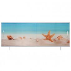 Экран под ванну ВладЭк Стандарт Плюс 1,70 (рама сталь, дверки ПП) УФ печать *пляж* арт11