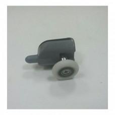 Ролик для двери душкабины одинарный нижний клипса серый с кнопкой d=23 арт DC1004Nd-23