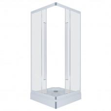 Кабина душ. ТРИТОН ОРИОН-1 90х90 мел/поддон квадрат сиф Д90-DK-01-08 стекло *лен*