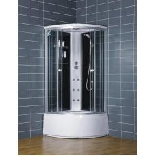 Гидробокс LORANTA CS-001 90х90х220 гл/поддон п/к сатин серое пер/стекло