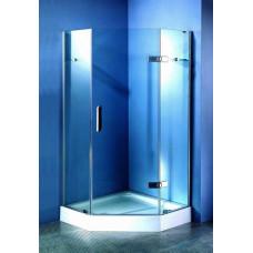 Кабина душ. APPOLLO TS 025 100х100х210 хром стекло прозрачное мелкий поддон пятиугольный