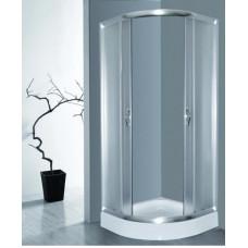 Кабина душ. LORANTA CS-837 100х100х195 мел/поддон п/к сатин/fabric стекло